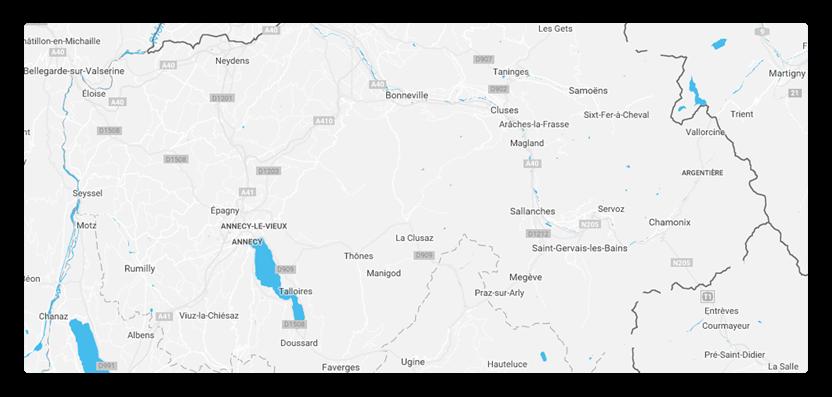 Carte des Offices de Tourisme