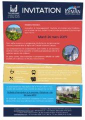 Journée Découverte «Le Chablais franco-suisse» – 26 mars 2019
