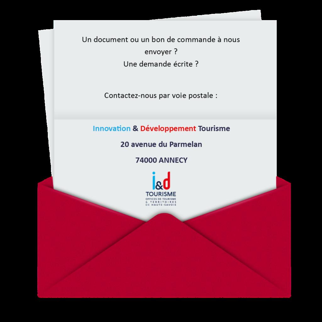 Contactez Innovation & Développement Tourisme par courrier