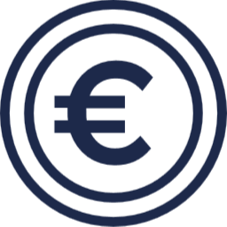 picto euro bleu marine