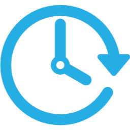 Picto horloge bleu clair