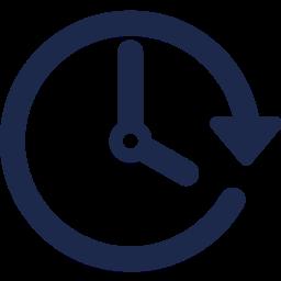 horloge bleue marine