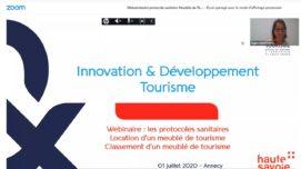 """Web séminaire """"Le protocole sanitaire pour accueillir les vacanciers dans une location de meublé de tourisme"""""""