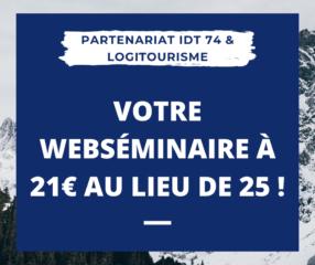 Web séminaires logitourisme à prix préférentiel en mars !